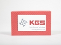 T008 - red diamond coated hand pad for edge arrising - 200 mesh