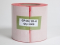 A0CP - Glass sheet separators 3mm thick - red - 1000 per roll