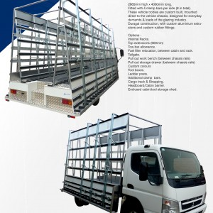BGE, Z 800-2640 Glazing Truck - Spec Sheet