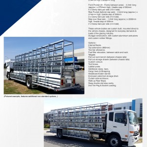 BGE, Z 800-2780SO Truck - Spec Sheet